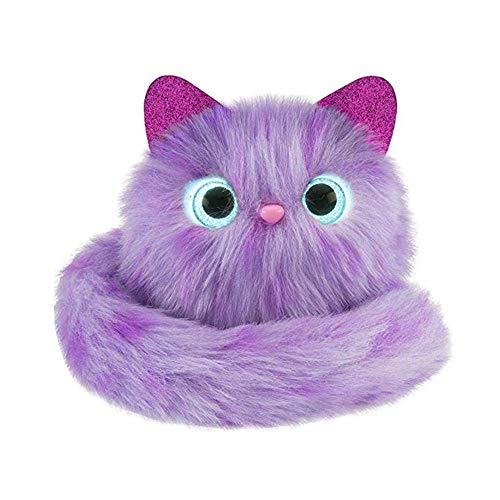CWeep Kids Plush Interactive Toys,Cute Electronic Cat Toy Pet Animal Glowing Vocalization Playing Toys for Girls/Boys Home Decor Interactive (Purple)