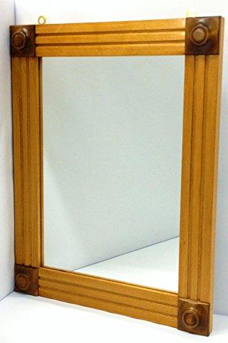 Wandspiegel mit Rahmen aus Massivholz von coigue 'komplett die vorato Hand mit Finish mit Schellack cm. 50 x 39 handgefertigt in Italien (Schellack-finish)