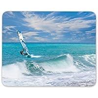 Alfombrilla de ratón (windsurf Surf mar Surf Brother regalo ordenador PC regalo # 8149