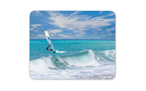 WINDSURFEN Mauspad Surfen Sea Surf Brother Geschenk für Computer PC Geschenk # 54
