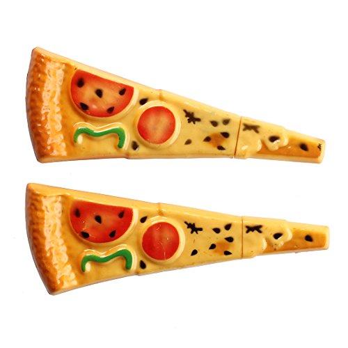 SODIAL(R) Ball Pens (2-Pack) Pizza Slice