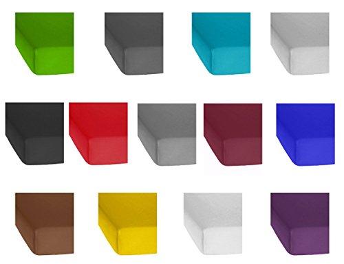 Bettenpoint Standard Microfaser Spannbetttuch, Spannbettlaken in Allen Farben und Größen