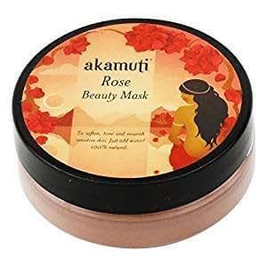 AKAMUTI - Maschera Viso alla Rosa Lenitiva per Pelle Sensibile e Matura - 20 gr