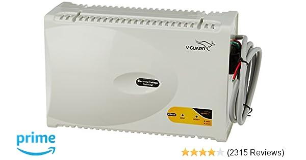 V-Guard VG 400 for 1 5 Ton AC (170V to 270V) Voltage Stabilizer (Grey)