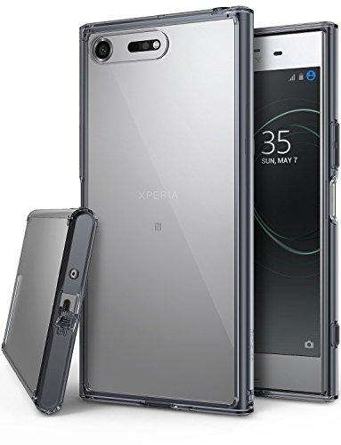 Ringke Fusion Kompatibel mit Xperia XZ Premium Hülle Transparent Hart PC Rückseite Kratzfest Cover TPU Rahmen Silikon Flex Dämpfer Case Handyhülle Dünn XZ Premium Schutzhülle - Smoke Black