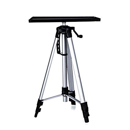 Beamer Stativ, Moutik Projektor Stativ Aluminum Projektor Tripod Halterung höhenverstellbar 52-140 cm für Laptop,Notebook und Projektor