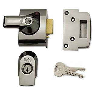 Yale P-BS2-CH-CH-40, BS2 British Standard Nightlatch, 40 mm, Chrome Finish, High Security Approved by Insurance Companies