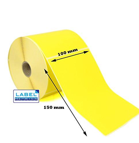 label Metrics 1000100mm x 150mm gelb Thermodirekt Etiketten