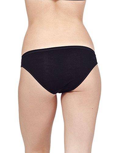 Icebreaker Damen Funktionsunterwäsche Siren Bikini, Black, M, 103164001 - 2