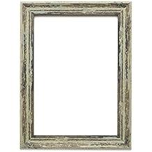 Paintings Frames - Marco de fotos, diseño industrial vintage, disponible en 5colores elegantes y varios tamaños, poliestireno Polcore, Spoon Green Distressed, A4