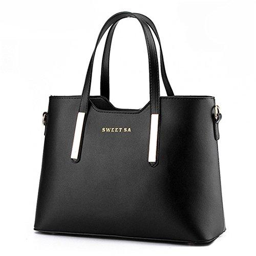 Frauen Messenger Bags Damen Tote Kleine Umhängetasche Frau Leder Handtasche Umhängetasche Mit Schal Schloss Designer s Black Maximum length 33