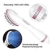 Jiahe One Step Hair Dryer & Styler - Negativer ionischer Fön-Haarglätter, Turmalin-Technologie-Generator,White,Britishregulations