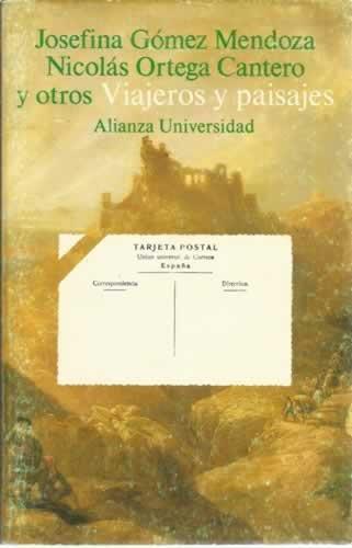 Viajeros y paisajes (Alianza universidad)