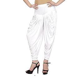 Sakhi Sang Womens Viscose Dhoti (FSS0802_White_Free Size)