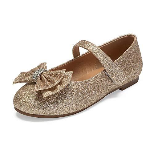 er Mädchen Ballerinas Schuhe für Partys und Freizeit in Vielen Farben,Champagne,28EU ()