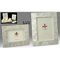 DonRegaloWeb - Portafotos de nácar para foto de 20cm x 25cm decorado con dibujos en color