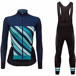 Uglyfrog 2018 Nouveau Veste Thermique d'hiver Maillots à Manches Longue + Bib Pantalons de Cyclisme Combinaisons Femme VTT Vêtements
