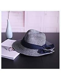 Sombrero de Copa para Mujer Sombrero de Verano para el Verano Sombrero de  Paja Plegable de 008f0445320