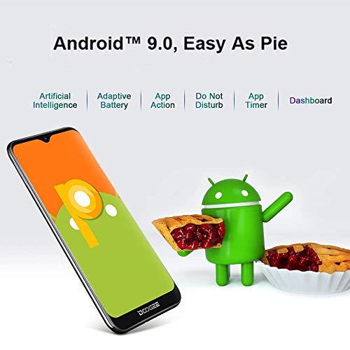 Télephone Portable débloqué Pas Cher 4G, DOOGEE Y8 2019 Smartphone Android 9,0 Mobile 6,1Pouces 19.9 HD+ Goutte d'eau, 3Go+16Go MT6739 Dual ... 12