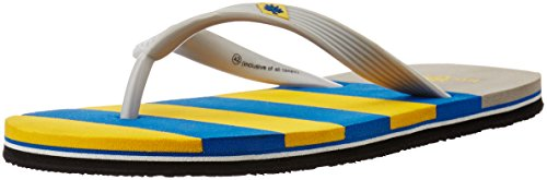 Woodland Men's Yellow and Blue Flip Flops Thong Sandals - 6 UK/India (40 EU)  available at amazon for Rs.371