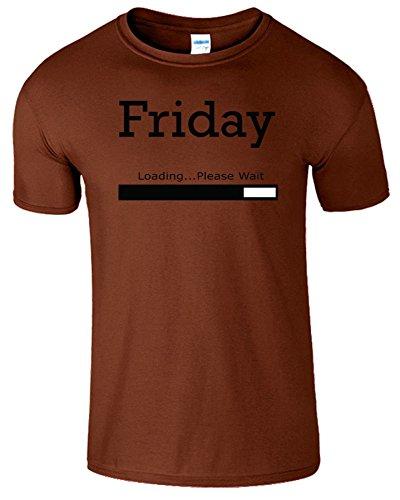 Friday Loading Weekend Frauen Der Männer T Shirt Kastanie / Schwarz Design