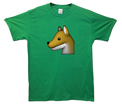 Dog Profile Emoji T-Shirt Grün