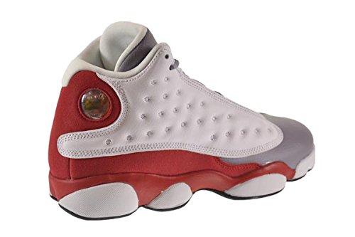 Nike - Air Jordan 13 Retro BG, Scarpe sportive Bambino white/black-true red-cmnt grey