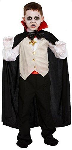 Kinder Jungen 5 Stück Vampir Halloween Kostüm Kleid Outfit 4-12 jahre - EU 122-134