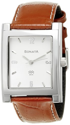 Sonata Analog White Dial Men's Watch - NF7925SL03A image