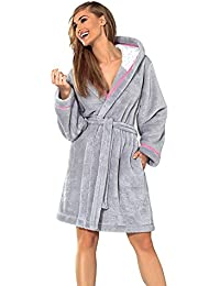 006e7cea14 L L Company Womens Luxury SOFT Bath Robe Housecoat Dressing Gown Bathrobe  with Belt and Hood