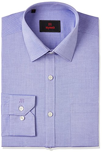 Raymond Men's Formal Shirt (8907576860507_RMSX06759-B6_40_Dark Blue)