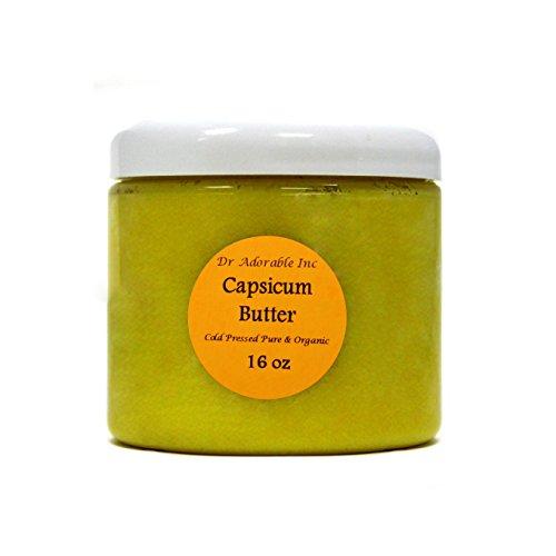Capsicum Butter Cold Pressed Pure & Organic 16 Oz/1 LB