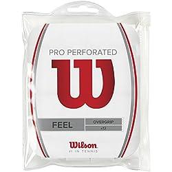 Wilson Pro Overgrip - Overgrips raqueta, color blanco, talla NS