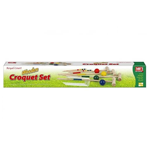MY-hlzernes-groes-Krokett-Set KT M.Y hölzernes großes Krokett-Set -