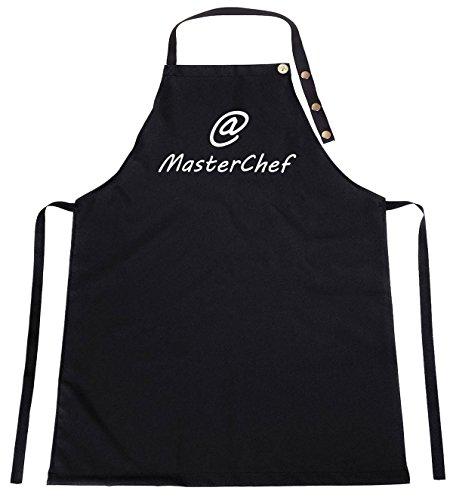 Ferocity Delux Kinderschürze Kind Malschürze Kunstkittel Kochschürze Apron Werkschürze mit Einem Motiv schwarz MasterChef [074]