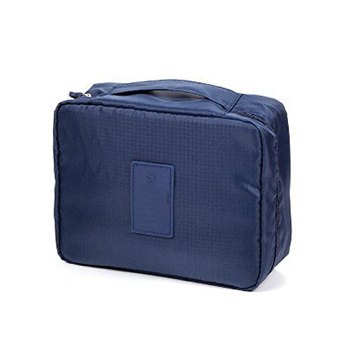 Sac De Lavage Sac à Cosmétiques Voyage Grand Sac De Stockage De Capacité De Stockage Multifonction Paquet,Blue