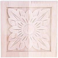 Apliques decorativos de madera tallada para muebles, de Demiawaking, sin pintar, para aplicar a puertas y partes frontales de muebles Style 5