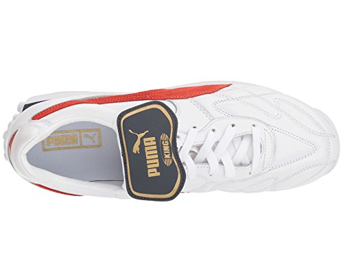 PUMA Men s King Avanti  Legends Pack  White Red 13 D US
