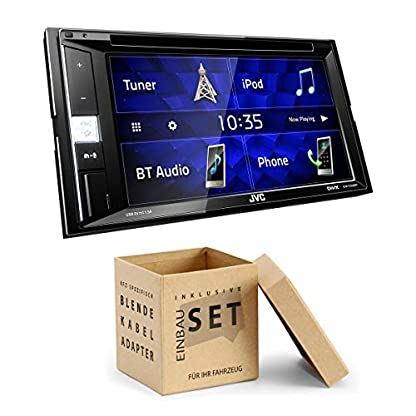 JVC-KWV250-2-DIN-DVD-CD-Receiver-Bluetooth-kompatibel-mit-Spotify-passend-fr-Mercedes-C-Klasse