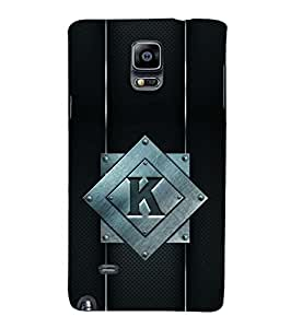 YuBingo Samsung Galaxy Note 4 :: Samsung Galaxy Note 4 N910G :: Samsung Galaxy Note 4 N910F N910K/N910L/N910S N910C N910Fd N910Fq N910H N910G N910U N910W8 Designer Phone Back Case Cover ( Kind Letter K (Metal Finish Plastic) )