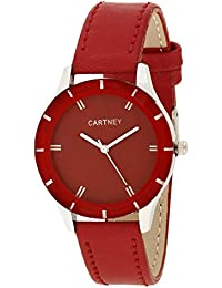 Cartney Colors Analog Red Dial Women's & Girl's Watch -CT-RD1