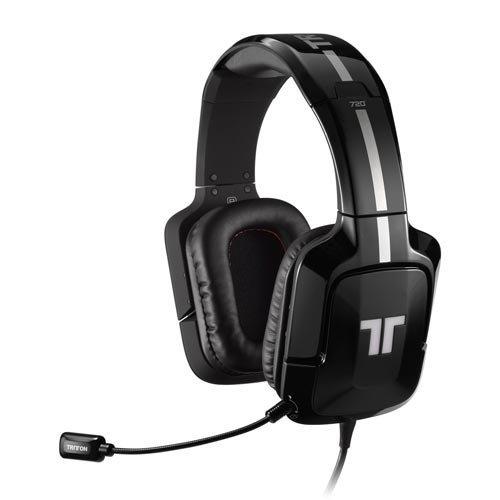 Mad Catz Tritton 720+ 7.1 Surround Headset für PS4/PS3, Xbox 360 und PC/Mac - Schwarz (Zertifiziert und Generalüberholt)