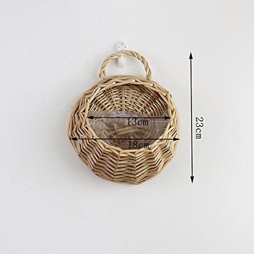 Storagc appendere pentole a forma di vaso cesto di vimini rattan fiore fatto a mano nest fioriera per home deco appeso vaso contenitore, a
