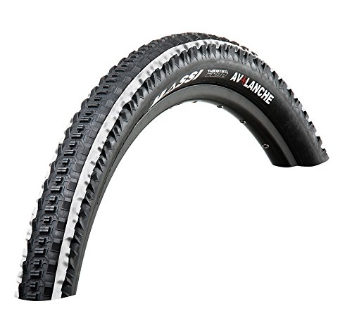 Massi Avalanche - Fahrradmantel, Farbe schwarz / weiß, 29 x 2.10