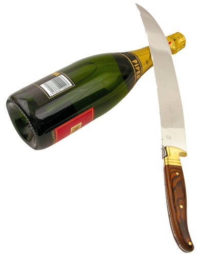 Laguiole Sabre Grosser Champagner Säbel 42 CM In Holzschatulle
