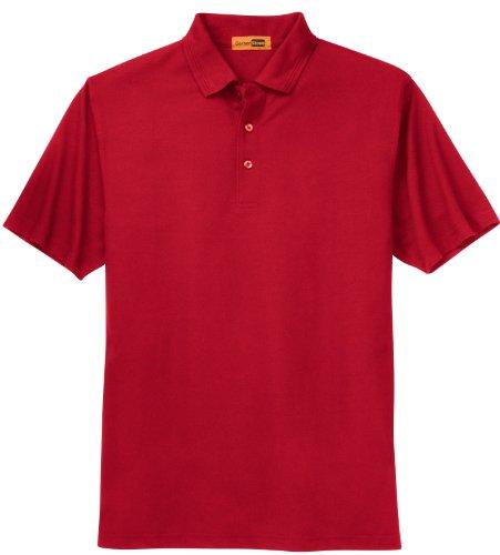 CornerStone Men's-Polo in piqué industriale Rosso