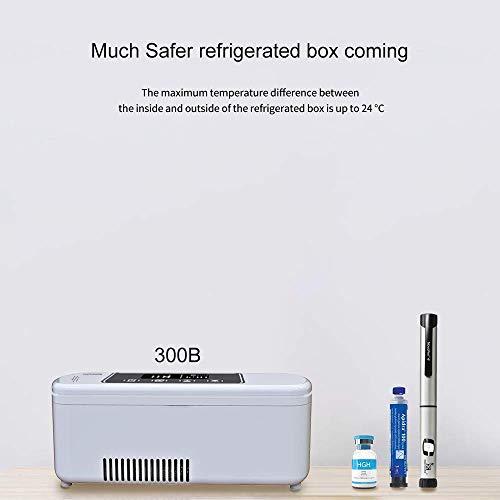 41qb7mQjLaL - Dison Care Mini refrigerador,insulina portátil caso del recorrido Caja del refrigerador,la diabetes mini refrigerador,pantalla LCD de carga 2-8 ° C