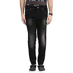 Mufti Mens Black Sports Fit Mid Rise Jeans (32)