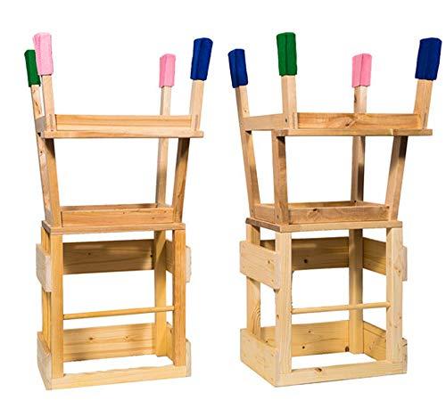 Deskiturm Lernturm Learning Tower by 4 Filzsocken für die Turmfüße - Lerntower Learning Tower Küchenhilfe Montessori (Bunt)