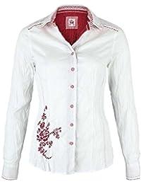 ... Mia san Tracht - Onlineshop. Spieth   Wensky Damen Bluse Crash-Optik  weiß-rot Stickerei, weiß-rot d20d663362